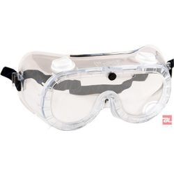 Gumipántos (indirekt ventilációs) védőszemüveg - PW21CLR
