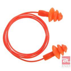 Újrahasználható zsinóros TPE füldugó (50 pár) - EP04ORR