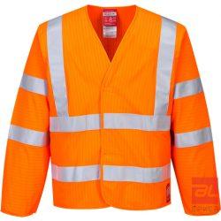 Jól láthatósági antisztatikus kabát - lángálló L/XL FR85ORRL/XL