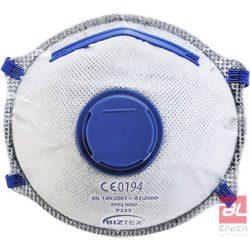 FFP2 aktívszenes szelepes Dolomit légzésvédő maszk (10 db) - P223WHR
