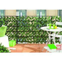 GREENLY térelválasztó műanyag levelekkel 1 x 2 m zöld