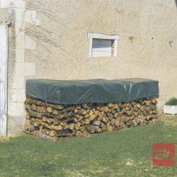 PROTEX WOOD 90 g/m2 LDPE vízhatlan, fahasábtakaró ponyva 1,5 x 6 m zöld
