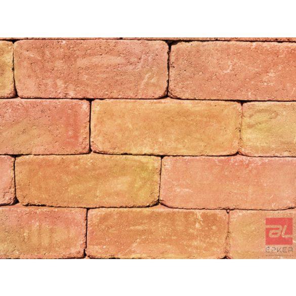Antikolt blokkelem 40x20x15, sárga-piros
