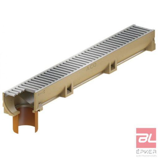 SELF EuroLine folyóka horganyzott acél ráccsal, DN 110 függőleges kivezetéssel 1m