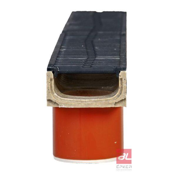 SELF Euromini 60 alsó kivezetéses öntöttvas ráccsal 1m