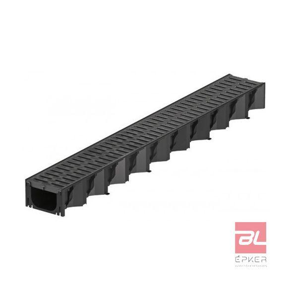 HEXALINE 2.0 folyóka fekete műanyag ráccsal, Microgrip felülettel, 1 m