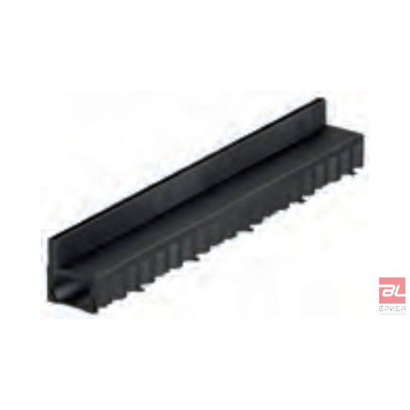 HEXALINE folyóka műanyag réskerettel 1 m, fekete