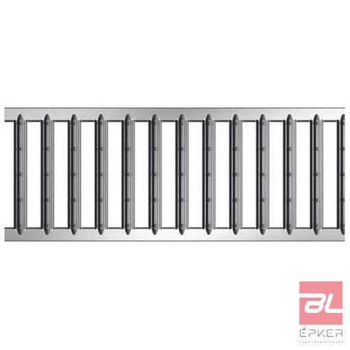 SELF bordásrács horganyzott acél, 1 m