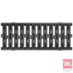 SELF fekete műanyag bordásrács, Microgrip felülettel, 1,0 m