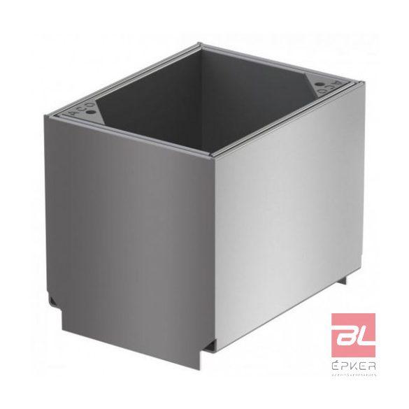 Tisztító elem rozsdamentes acélból, résmagasság 105 mm, L=150 mm