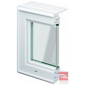 Therm hőszigetelt ablak 3 rétegű üvegezéssel, kerettel